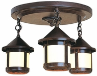 Arroyo Craftsman BCM-6S/3 Berkeley Flush Mount 3 Light Ceiling Fixture