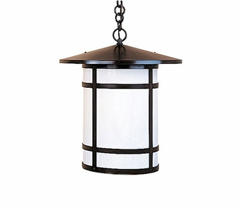 Arroyo Craftsman BH-11L Berkeley Outdoor Chain Hung Pendant Light - 12.875 inches tall