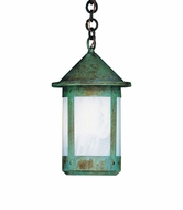 Arroyo Craftsman BH-6L Berkeley Outdoor Chain Hung Pendant Light - 12 inches tall