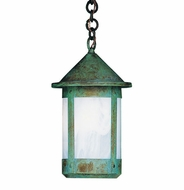 Arroyo Craftsman BH-7L Berkeley Outdoor Chain Hung Pendant Light - 14.625 inches tall