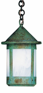 Arroyo Craftsman BH-8 Berkeley Outdoor Chain Hung Pendant Light - 14.25 inches tall