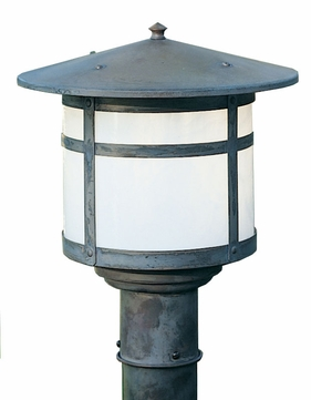 Arroyo Craftsman BP-17 Berkeley Outdoor Lighting Post - 13.25 inches tall