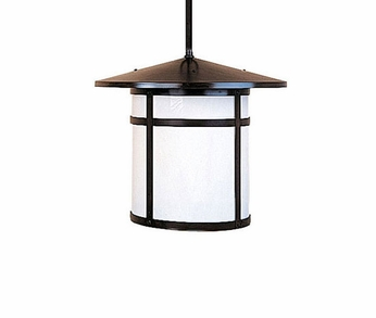 Arroyo Craftsman BSH-11 Berkeley Craftsman Indoor/Outdoor Rod Hung Pendant Light - 8.5 inches tall