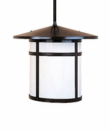 Arroyo Craftsman BSH-14 Berkeley Craftsman Indoor/Outdoor Rod Hung Pendant Light - 10.375 inches tall