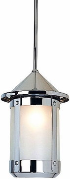 Arroyo Craftsman BSH-14TL Berkeley Indoor/Outdoor Rod Hung Pendant Light - 21.375 inches tall
