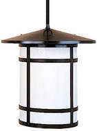 Arroyo Craftsman BSH-17L Berkeley Craftsman Indoor/Outdoor Rod Hung Pendant Light - 17.875 inches tall