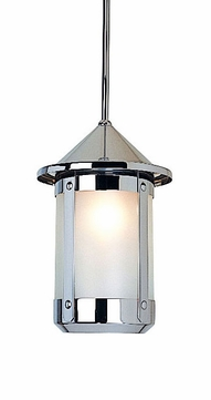 Arroyo Craftsman BSH-6 Berkeley Indoor/Outdoor Rod Hung Pendant Light - 8.625 inches tall