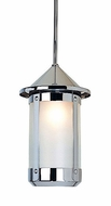 Arroyo Craftsman BSH-6L Berkeley Indoor/Outdoor Rod Hung Pendant Light - 10.5 inches tall