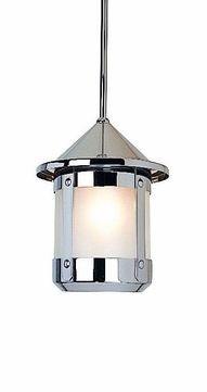 Arroyo Craftsman BSH-6S Berkeley Indoor/Outdoor Rod Hung Pendant Light - 6.5 inches tall