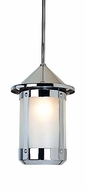 Arroyo Craftsman BSH-7 Berkeley Indoor/Outdoor Rod Hung Pendant Light - 10.625 inches tall
