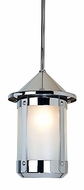 Arroyo Craftsman BSH-8 Berkeley Indoor/Outdoor Rod Hung Pendant Light - 12.625 inches tall