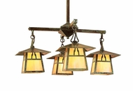 Arroyo Craftsman CCH-8/4 Carmel Craftsman 4 Light Chandelier - 26.5 inches wide