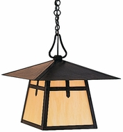 Arroyo Craftsman CH-15 Carmel Craftsman Outdoor Chain Hung Pendant - 15 inches wide