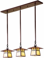 Arroyo Craftsman CICH-8/3 Carmel Craftsman 3 Light Multi Pendant Light