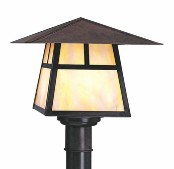 Arroyo Craftsman CP-12 Carmel Craftsman Outdoor Post Light - 9.25 inches tall