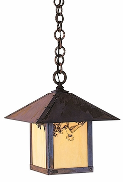 Arroyo Craftsman EH-12 Evergreen Craftsman Indoor/Outdoor Hanging Pendant Light - 12 inches wide