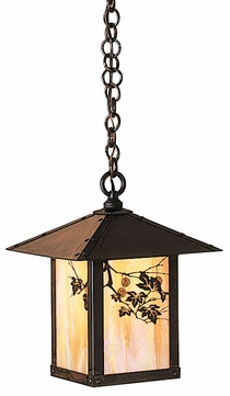 Arroyo Craftsman EH-9 Evergreen Craftsman Indoor/Outdoor Hanging Pendant Light - 9 inches wide