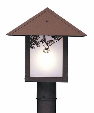 Arroyo Craftsman EP-12 Evergreen Craftsman Outdoor Light Post - 12 inches wide