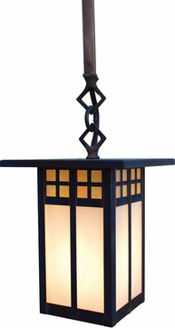 Arroyo Craftsman GSH-6L Glasgow Craftsman Outdoor Hanging Pendant - 38.75 inches tall