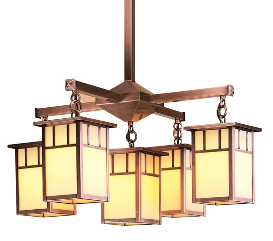 Arroyo Craftsman Hch 4l 4 1 Huntington 5 Light Chandelier