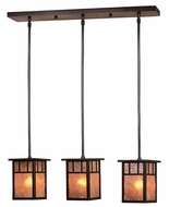 Arroyo Craftsman HICH-4L_3 Huntington Craftsman 3 Light Pendant