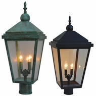 Arroyo Craftsman LAP Lancaster Exterior Lamp Post Light