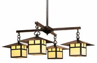 Arroyo Craftsman MCH-12/4 Monterey Craftsman 4 Light Chandelier - 41.375 inches wide
