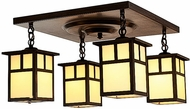 Arroyo Craftsman MCM-6/4 Mission Craftsman 4 Light Flush Mount Ceiling Fixture - 18 inches wide