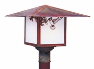 Arroyo Craftsman MP-12 Monterey Craftsman Outdoor Light Post - 12 inches wide