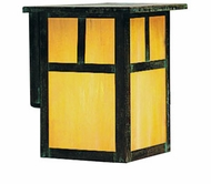 Arroyo Craftsman MW-10 Mission Craftsman Outdoor Wall Sconce - 12 inches tall