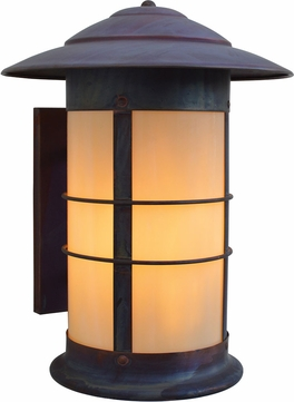 Arroyo Craftsman NS-14L Newport Nautical Outdoor Long Body Wall Sconce - 17.875 inches tall