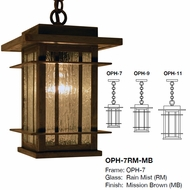 Arroyo Craftsman OPH Oak Park Craftsman Exterior Pendant Lighting Fixture