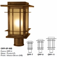 Arroyo Craftsman OPP Oak Park Mission Outdoor Lighting Post Light Mount