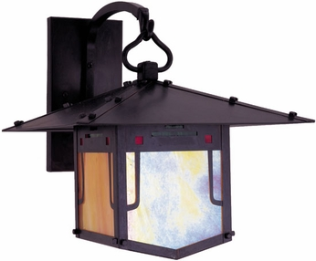 Arroyo Craftsman PDB-17GRC Pagoda Asian Outdoor Wall Sconce - 16 inches tall