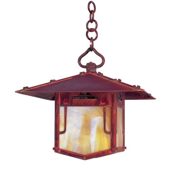 Arroyo Craftsman Pdh 12grc Pagoda Asian Outdoor Hanging Pendant Light 12 Inches Wide Loading Zoom