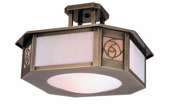 Arroyo Craftsman SCCM-15 Saint Clair Craftsman Semi-Flush Ceiling Fixture - 15.5 inches wide