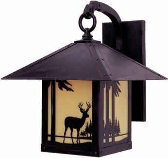 Arroyo Craftsman TRB-16DR Timber Ridge 16 inch Outdoor Wall Sconce with Deer Filigree