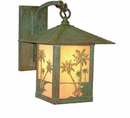 Arroyo Craftsman TRB-9PT Timber Ridge 9 inch Outdoor Wall Sconce with Palm Tree Filigree
