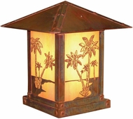 Arroyo Craftsman TRC-16PT Timber Ridge 16 inch Outdoor Pier Mount with Palm Tree Filigree