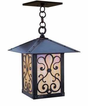Arroyo Craftsman TRH-12AS Timber Ridge 12 inch Outdoor Pendant with Ashbury Filigree