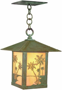 Arroyo Craftsman TRH-16PT Timber Ridge 16 inch Outdoor Pendant with Palm Tree Filigree
