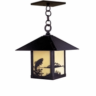 Arroyo Craftsman TRH-9TR Timber Ridge 9 inch Outdoor Pendant with Trout Filigree