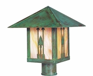 Arroyo Craftsman TRP-12AR Timber Ridge 12 inch Outdoor Light Post with Arrow Filigree