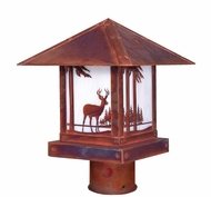 Arroyo Craftsman TRP-12DR Timber Ridge 12 inch Outdoor Light Post with Deer Filigree