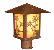 Arroyo Craftsman TRP-12PT Timber Ridge 12 inch Outdoor Light Post with Palm Tree Filigree