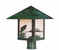 Arroyo Craftsman TRP-12TR Timber Ridge 12 inch Outdoor Light Post with Trout Filigree