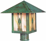 Arroyo Craftsman TRP-16AR Timber Ridge 16 inch Outdoor Light Post with Arrow Filigree