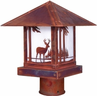 Arroyo Craftsman TRP-16DR Timber Ridge 16 inch Outdoor Light Post with Deer Filigree