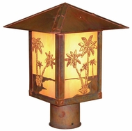 Arroyo Craftsman TRP-16PT Timber Ridge 16 inch Outdoor Light Post with Palm Tree Filigree