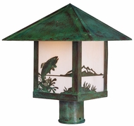 Arroyo Craftsman TRP-16TR Timber Ridge 16 inch Outdoor Light Post with Trout Filigree